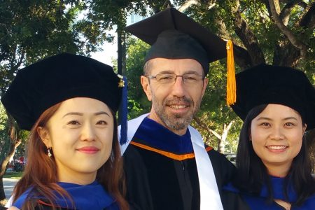 Rui Zeng and Hyun-Jung Kim graduated